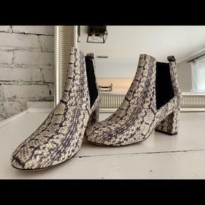 Cole Haan snake booties